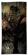 Palm Tree Fireworks Beach Towel