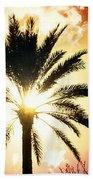 Palm Tree In The Sun #2 Beach Towel