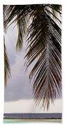 Palm Tree Leaves At The Beach Beach Towel