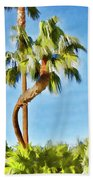 Palm Tree Needs A Chiropractor Painterly I Beach Towel