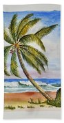 Palm Tree Ocean Scene Beach Towel