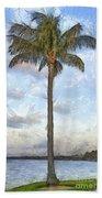Palm Tree Pencil Beach Towel