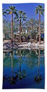 Palm Tree Reflections Beach Towel