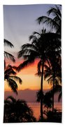 Palm Tree Silhouettes Beach Towel