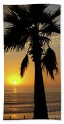 Palm Tree Sunset Beach Towel