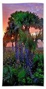 Palm Tree Sunset Beach Towel