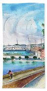 Palma De Mallorca Panoramic 01 Beach Towel