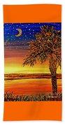 Palmetto Sunset  Beach Towel