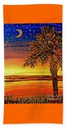 Palmetto Sunset  Beach Towel