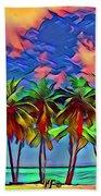 Palms 2 Beach Towel