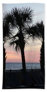 Palms At Sunset  Beach Towel