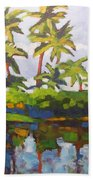 Palms Reflections Beach Towel