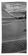 Palouse - Washington - Farms - 6 - Bw Beach Towel