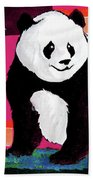 Panda Abstrack Color Vision  Beach Towel