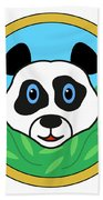 Panda Bear Head Beach Towel