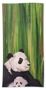 Pandas Fading  Beach Towel