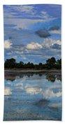 Pano Cambodia Lake  Beach Towel