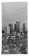 Pano Los Angeles City Black White Beach Towel