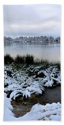 Panorama Of Winter Lake Beach Towel