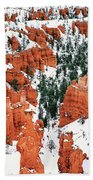 Panorama Winter Storm Blankets Thors Hammer Bryce Canyon Utah Beach Towel
