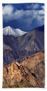 Panoramic Rocky Landscape Of Leh City Ladakh Jammu And Kashmir India Beach Towel