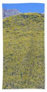 Panoramic View Of Desert Gold Yellow Beach Towel