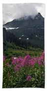 Panoramic View Of 'going To Sun Road' Beach Towel