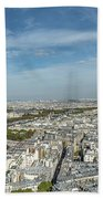 Panoramic View Of Paris From The Top Of The Tower Beach Towel