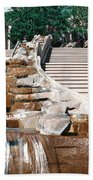 Panoramic View Of Stairs And Waterfall Beach Towel