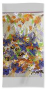 Pansies And Lillies Beach Towel