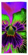 Pansy 06 - Photopower - Thoughts Of You Beach Towel
