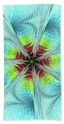 Pansy Fractal Beach Towel