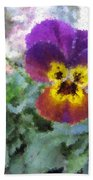Pansy Perfection Beach Towel