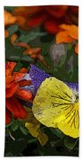 Pansy Play Beach Towel