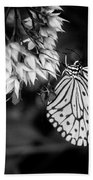Paper Kite In Black And White Beach Towel