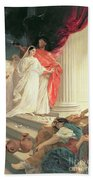 Parable Of The Wise And Foolish Virgins Beach Towel by Baron Ernest Friedrich von Liphart