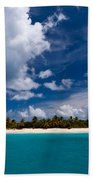 Paradise Is Sandy Cay Beach Towel by Adam Romanowicz