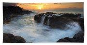 Paradise Sunset Splash Beach Towel