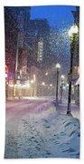 Paramount Snowstorm Boston Ma Washington Street Beach Towel