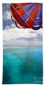 Parasail Over Fiji Beach Towel