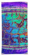 Parched Earth Abstract Beach Towel