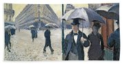 Paris A Rainy Day Beach Towel