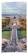 Paris City View 19 Art Beach Towel