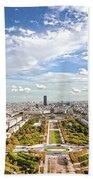 Paris City View 20 B Beach Towel