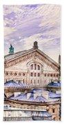 Paris City View 22 Art Beach Towel