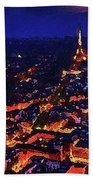 Paris City View Beach Towel