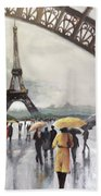 Paris Fog Beach Towel
