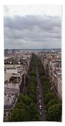Paris From The Arch De Triumph Beach Towel