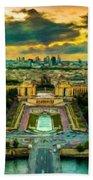 Paris Landscape Beach Towel