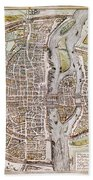 Paris Map, 1581 Beach Towel